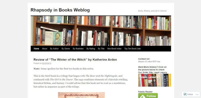 Rhapsody in Books Weblog