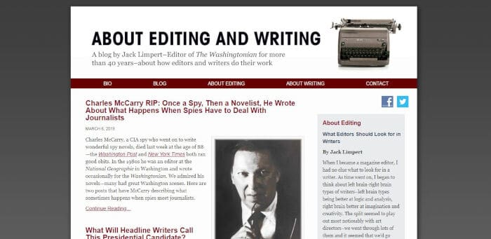 About Editing and Writing