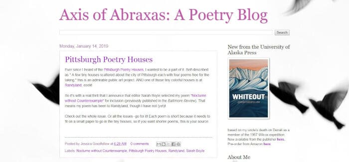 Axis of Abraxas A Poetry Blog